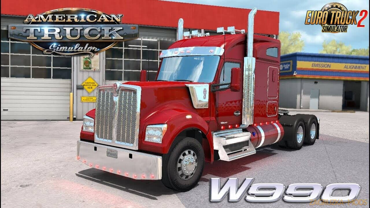 Kenworth W990 v1.2.2 Edited by Harven (1.37.x) for ETS2