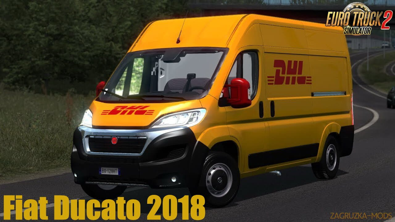 Fiat Ducato 2018 + Interior v0.2 (1.36.x) for ETS2