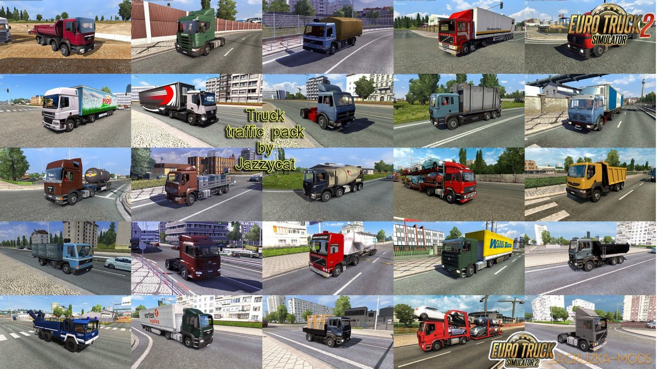 Truck Traffic Pack v4.6 by Jazzycat (1.37.x) for ETS2