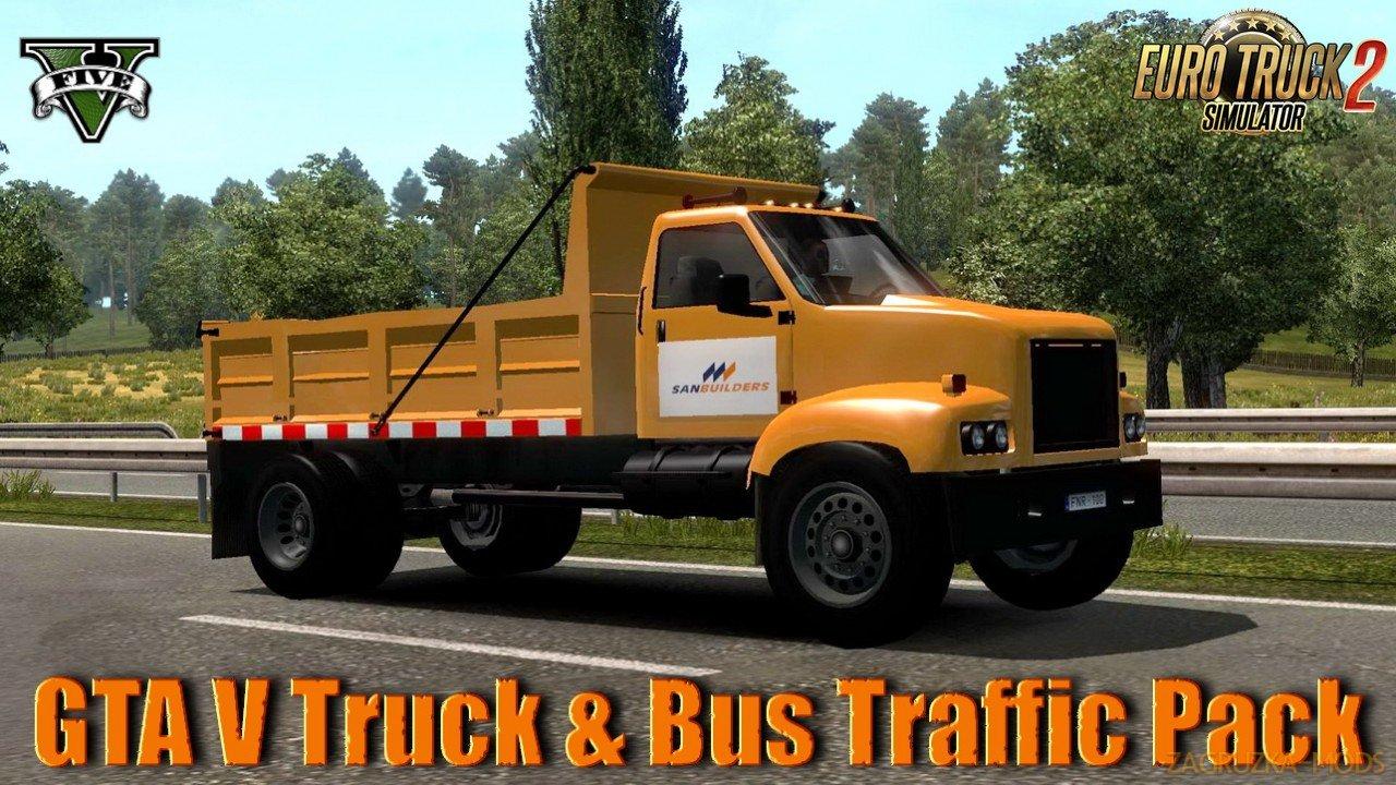 GTA V Truck & Bus Traffic Pack v1.0 (1.37.x) for ETS2