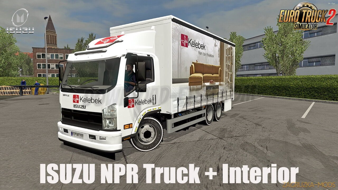 Isuzu NPR Truck + Interior v1.0 (1.36.x) for ETS2