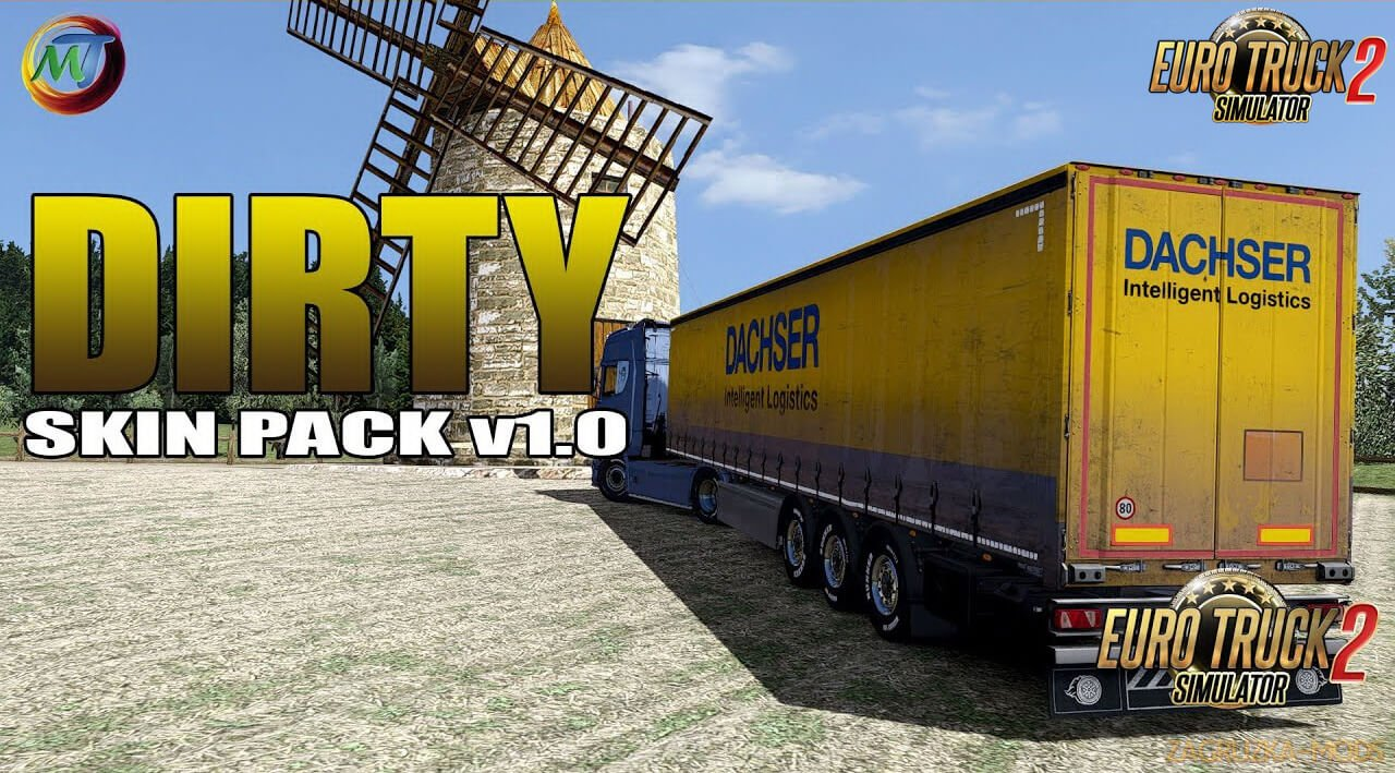 Dirty Skin Pack Trailers v2.1 by DomiPromi (1.37.x) for ETS2