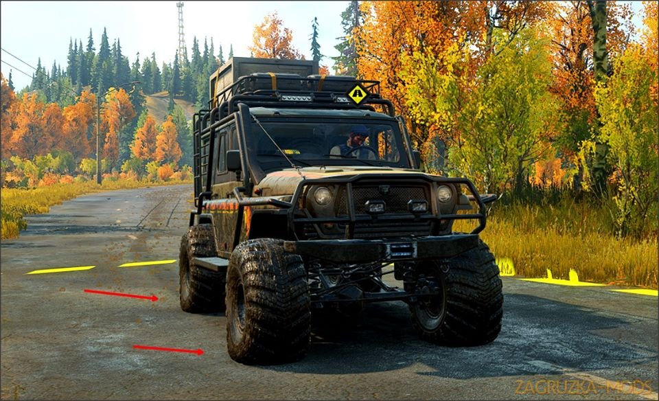 Realistic Tire Pressures for Vehicles + Trailers v1.0 for SnowRunner