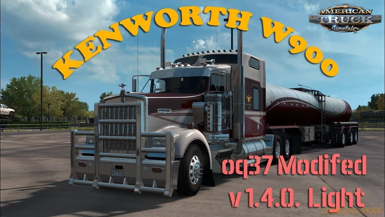 Kenworth W900 Light v1.4 Edit by oq37 (1.37.x) for ATS