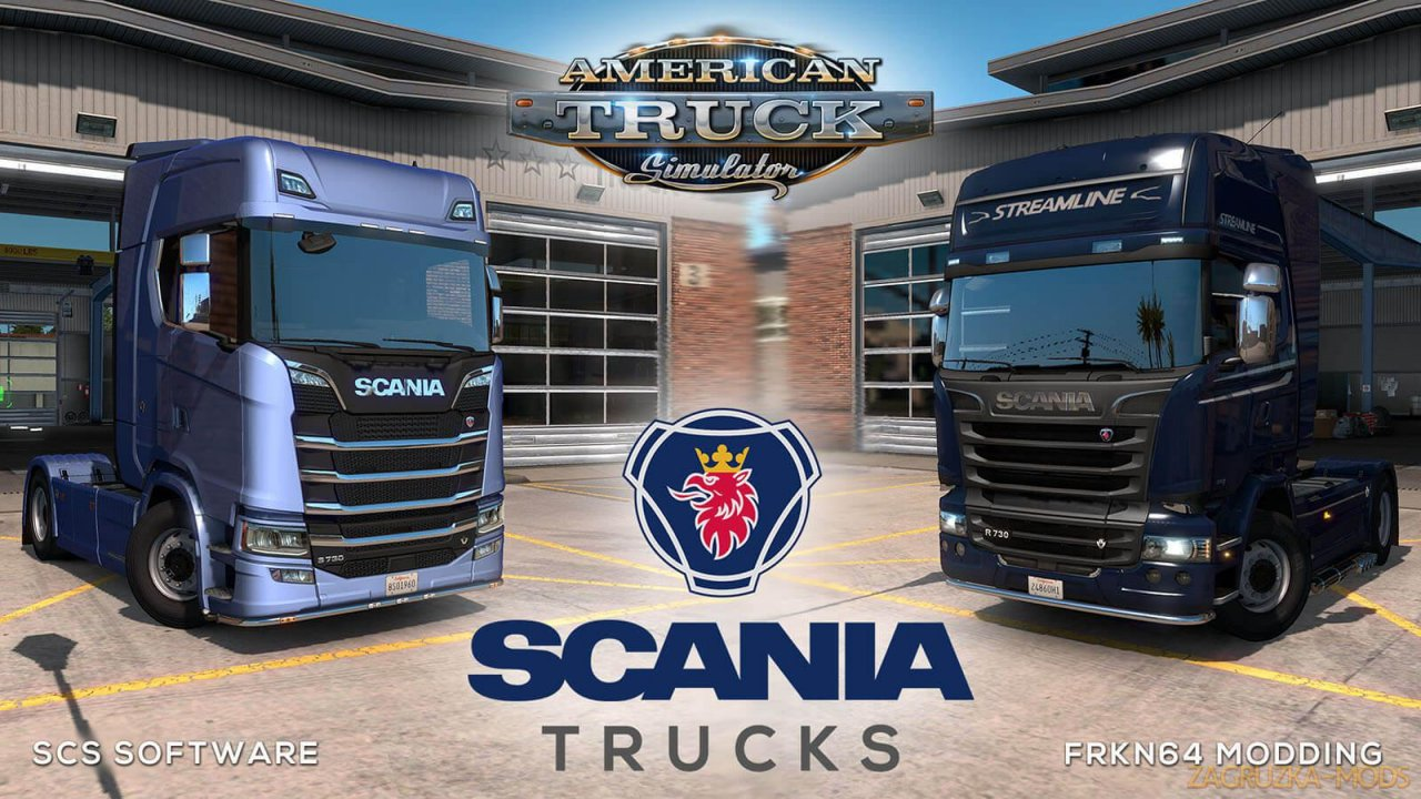 Scania Trucks Mod for ATS v3.1 by Frkn64 (1.37.x) for ATS