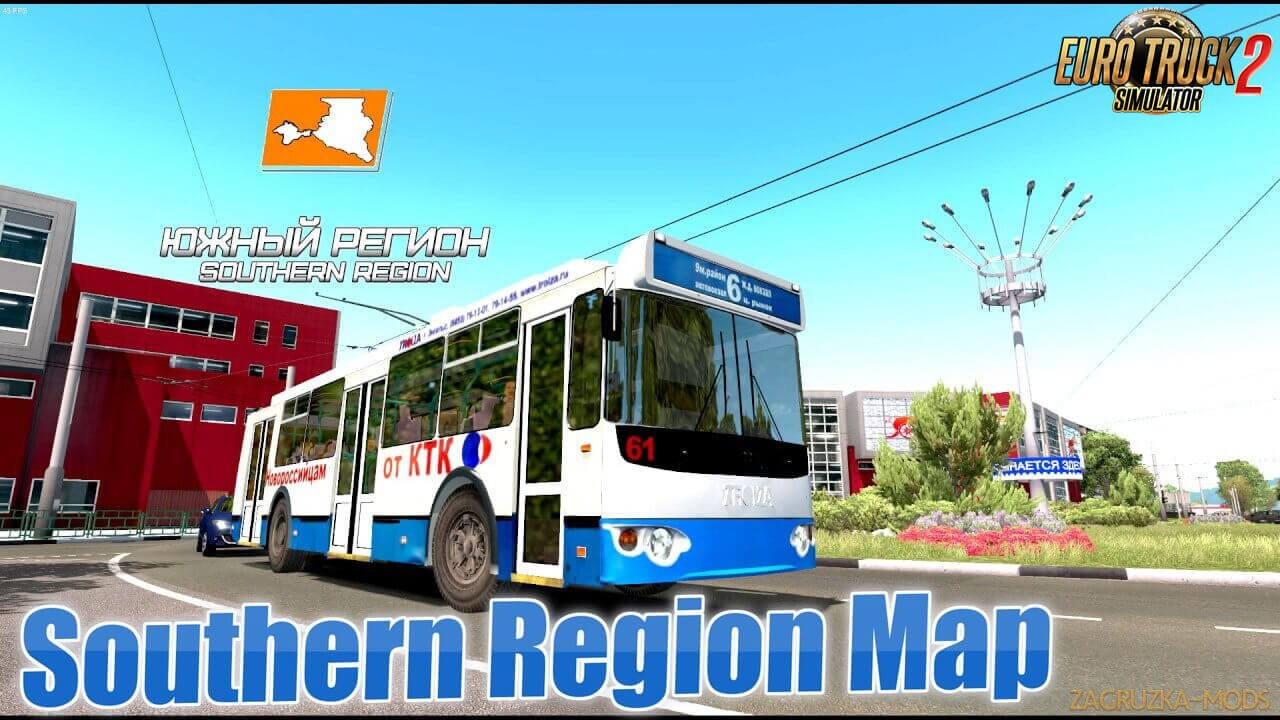 Southern Region Map v9.0 (1.38.x) for ETS2