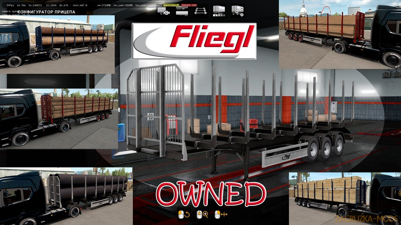 Ownable log trailer Fliegl v1.0.3 by Jazzycat
