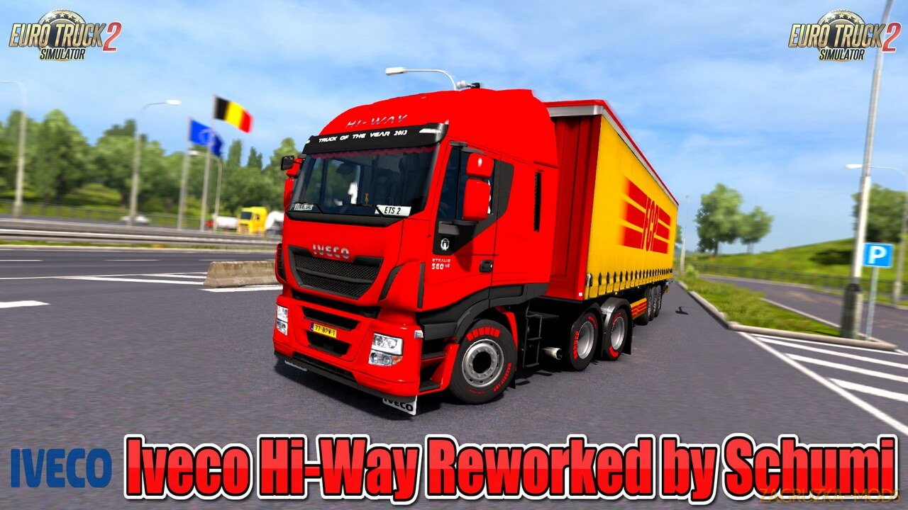 Iveco Hi-Way Reworked v2.9 by Schumi (1.38.x) for ETS2