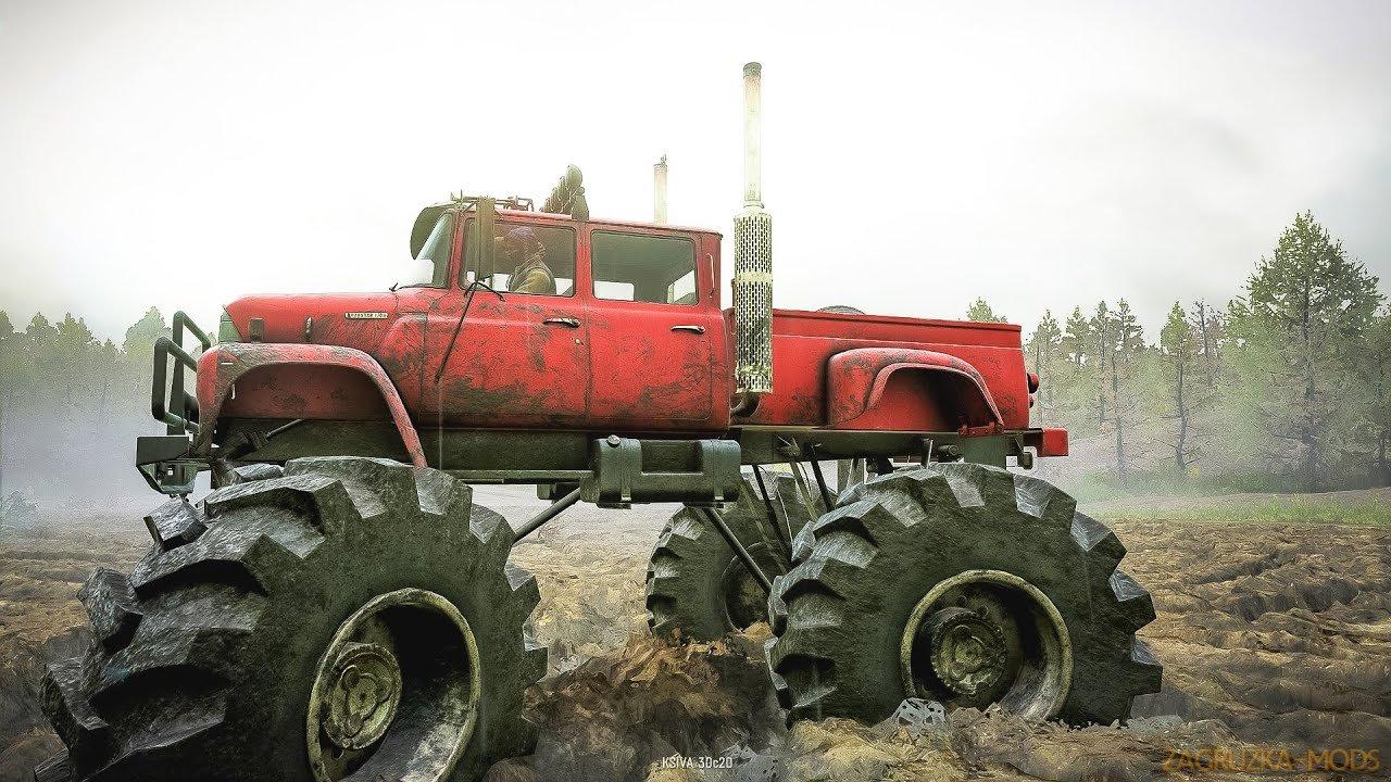 International Loadstar 1700 Monster Truck v1.0.2 for SnowRunner