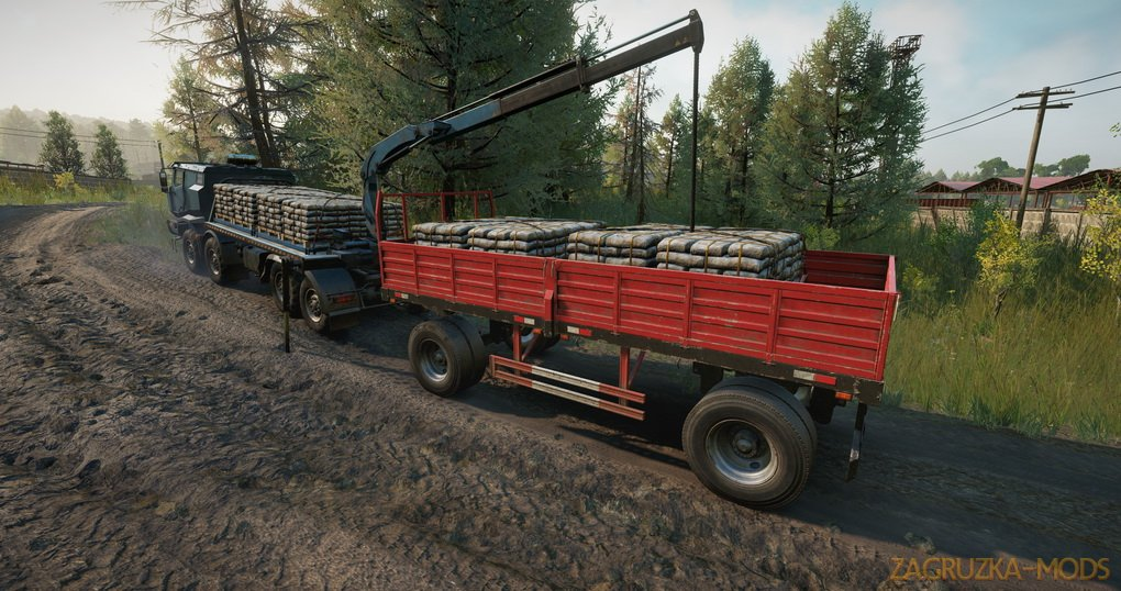 Rear Crane And New Vehicle Add-ons v1.1.7 for SnowRunner