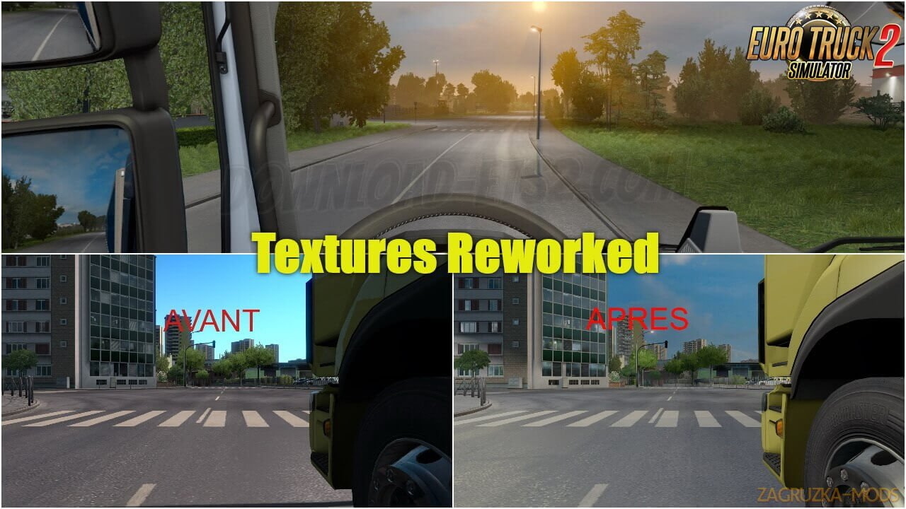 Textures Reworked Mod v2.6 (1.37.x) for ETS2