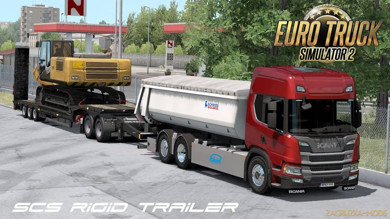 SCS Rigid Trailers by Teklic v1.6 (1.37.x) for ETS2