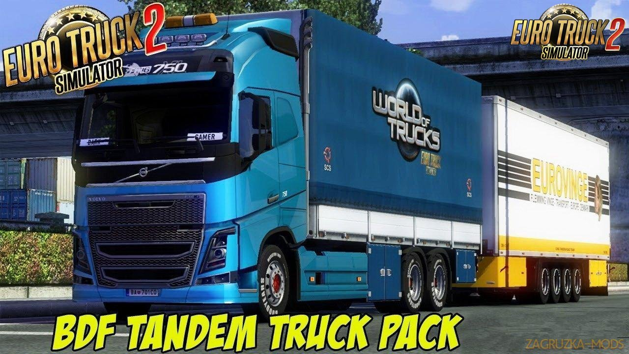 BDF Tandem Truck Pack v137.28 by Flemming V (1.37.x) for ETS2