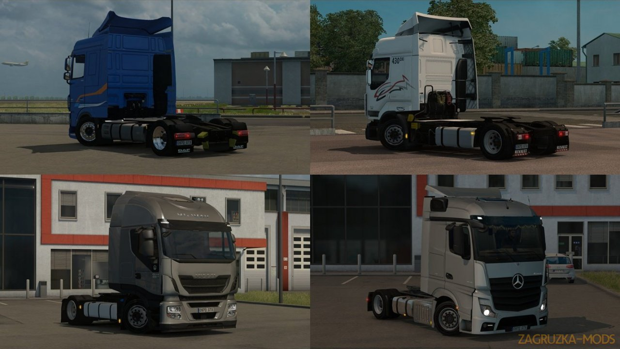 Low deck chassis addons for Schumi s trucks v4.2 by Sogard3