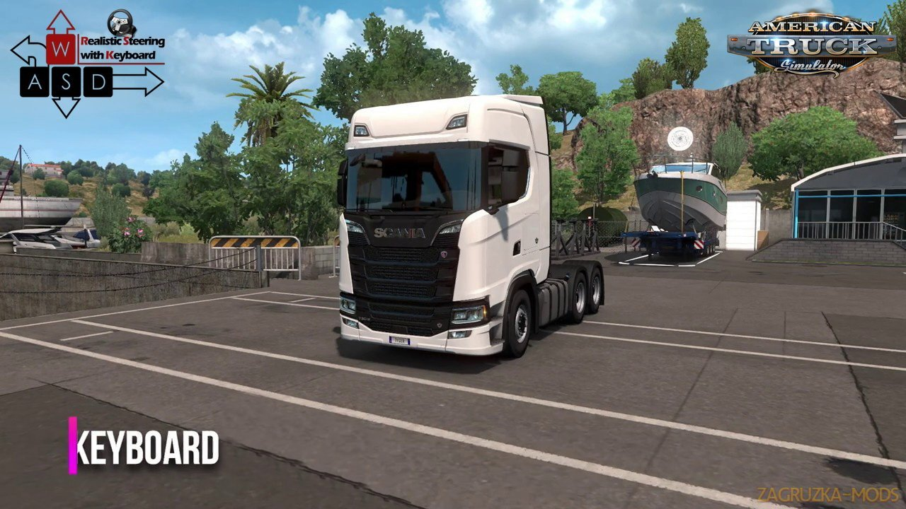 Realistic Steering with Keyboard v3.0 (1.37.x) for ATS