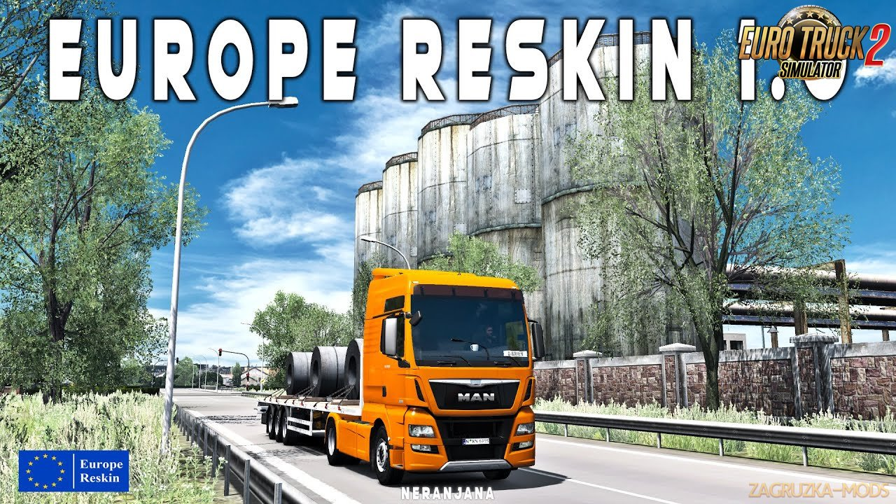 Europe Reskin v1.0 by Mirfi (v1.37.x) for ETS2