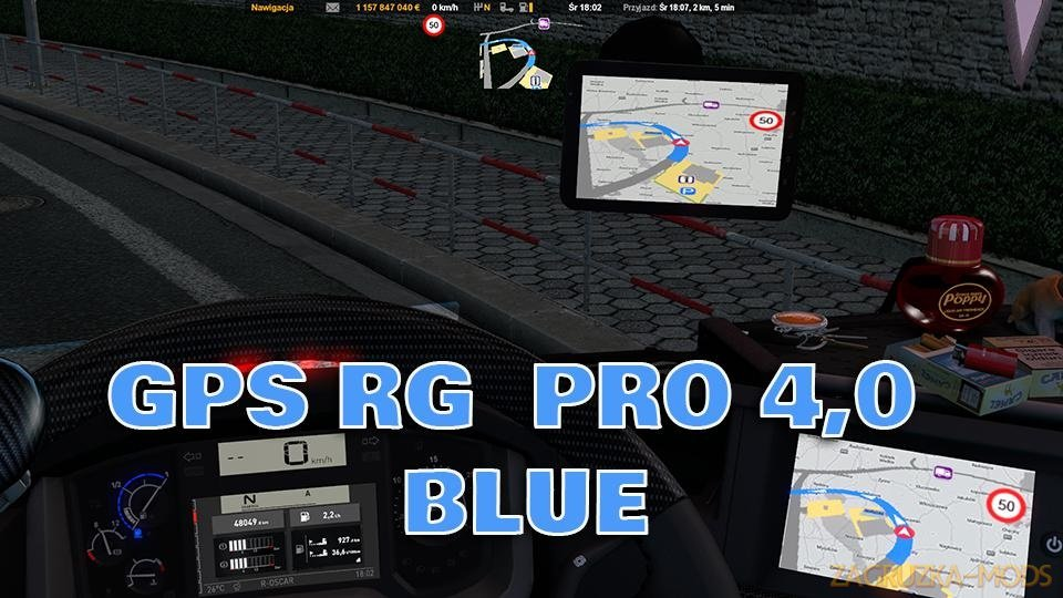 GPS RG PRO v4.0-(Red,Blue,Green) by RKM for ETS2