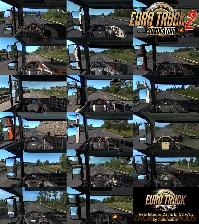 Real interior cams for all trucks v1.6.2 (1.38.x) for ETS2