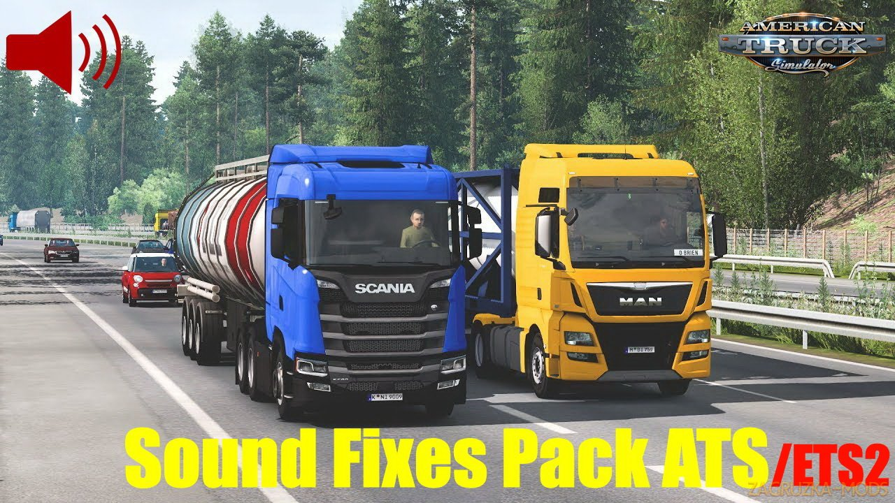 Sound Fixes Pack v21.25 for ATS and ETS2 (1.40.x)
