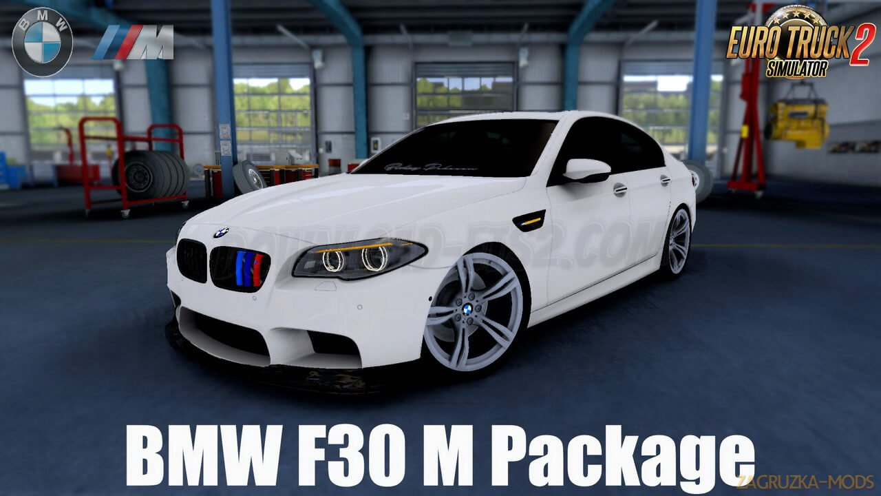 BMW F30 M Package + Interior v1.2 (1.39.x) for ETS2