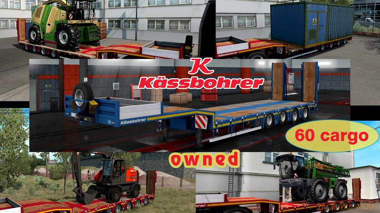 Ownable trailer Kassbohrer LB4E v1.1.4 by Jazzycat for ETS2