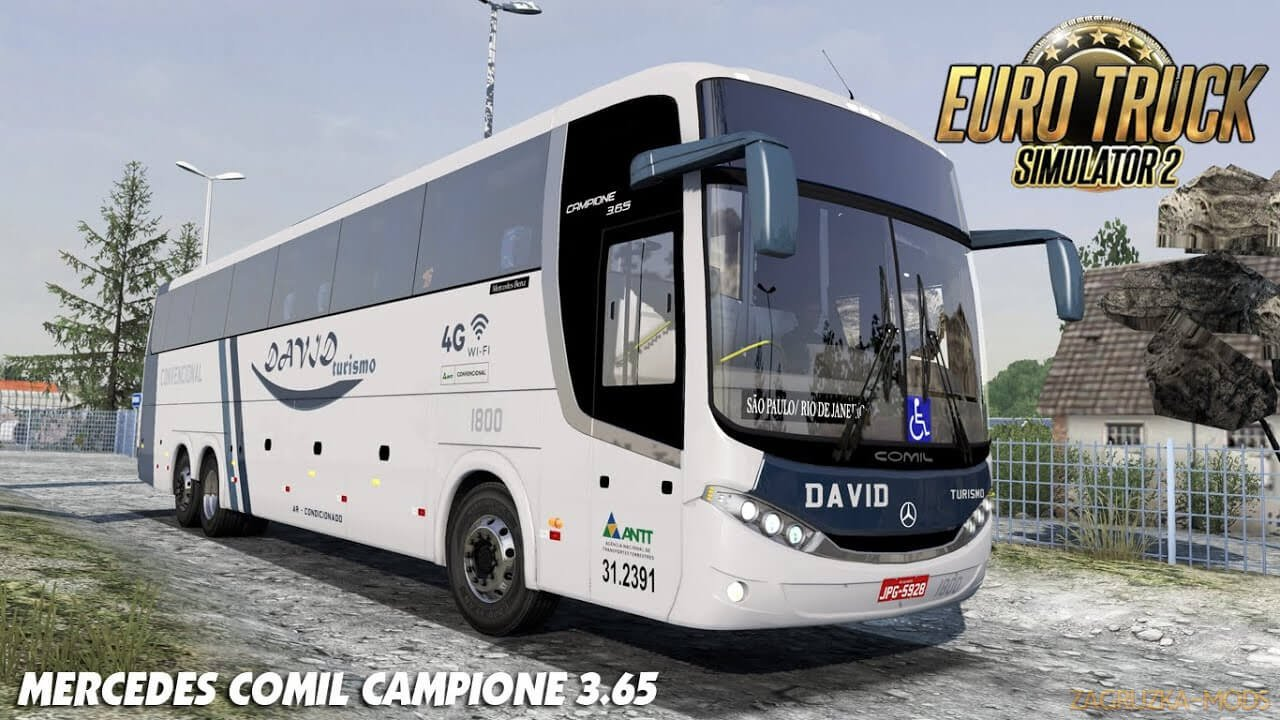 Bus Mercedes Comil Campione 3.65 v1.0 (1.38.x) for ETS2