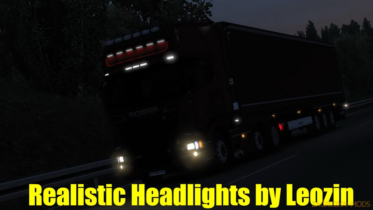 Realistic Headlights v2.2 by Leozin (1.38.x) for ETS2