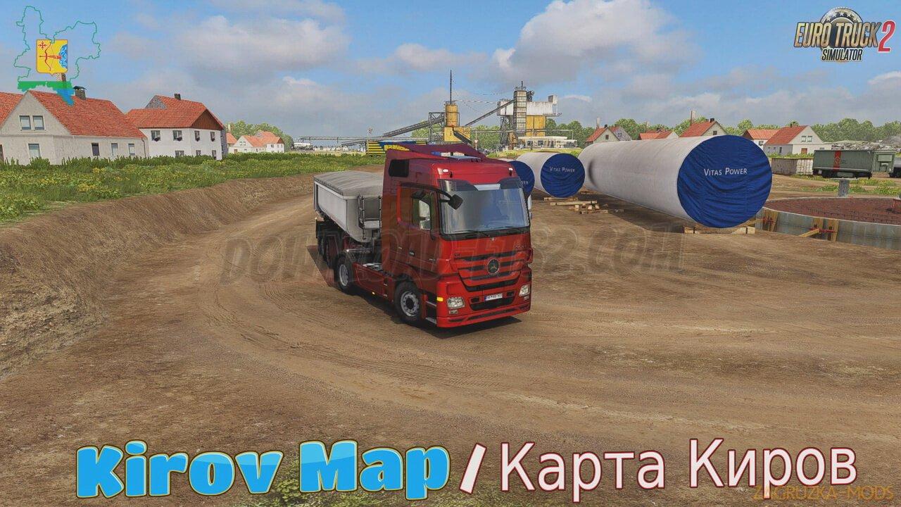 Kirov Map v4.0 by kakoito (1.38.x) for ETS2