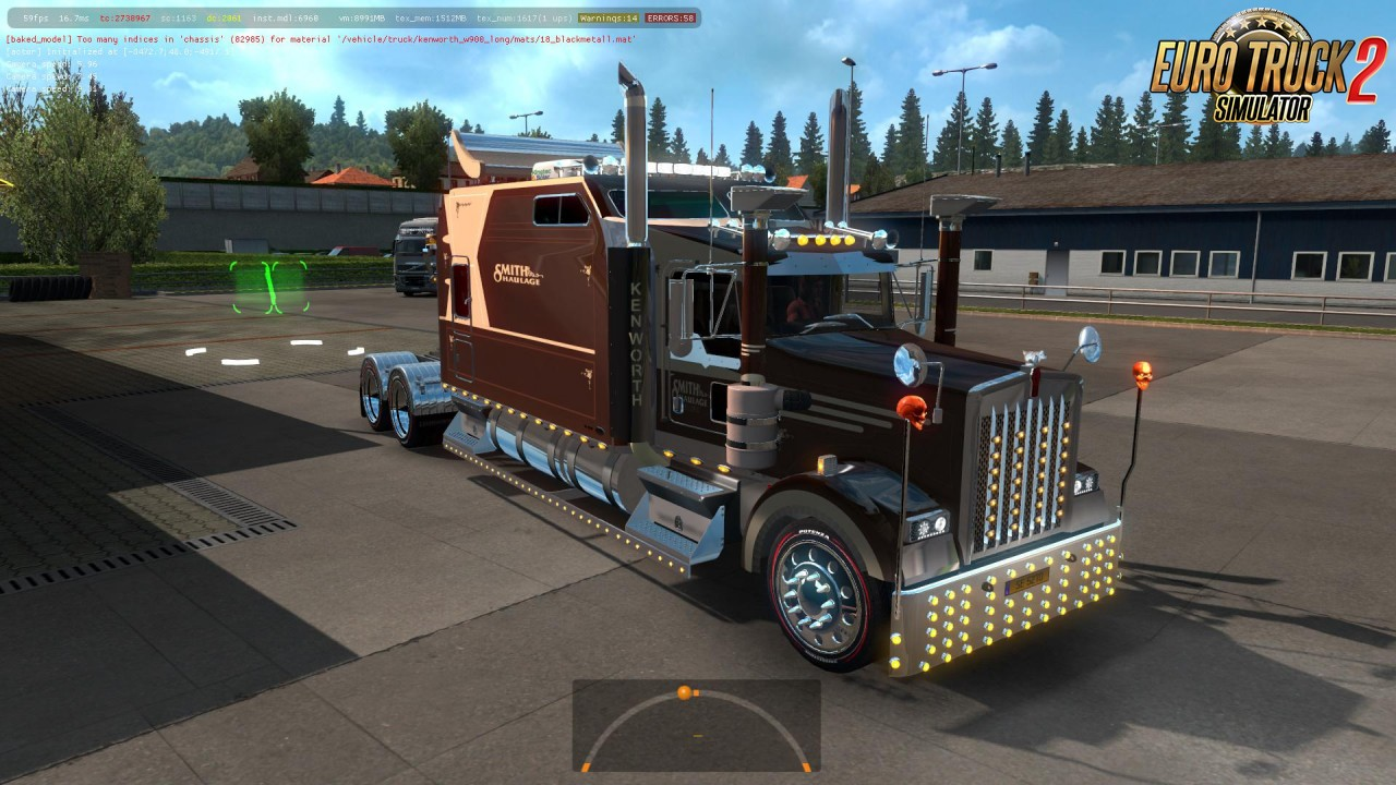 Kenworth W900 Long Version (1.38.x) for ETS2