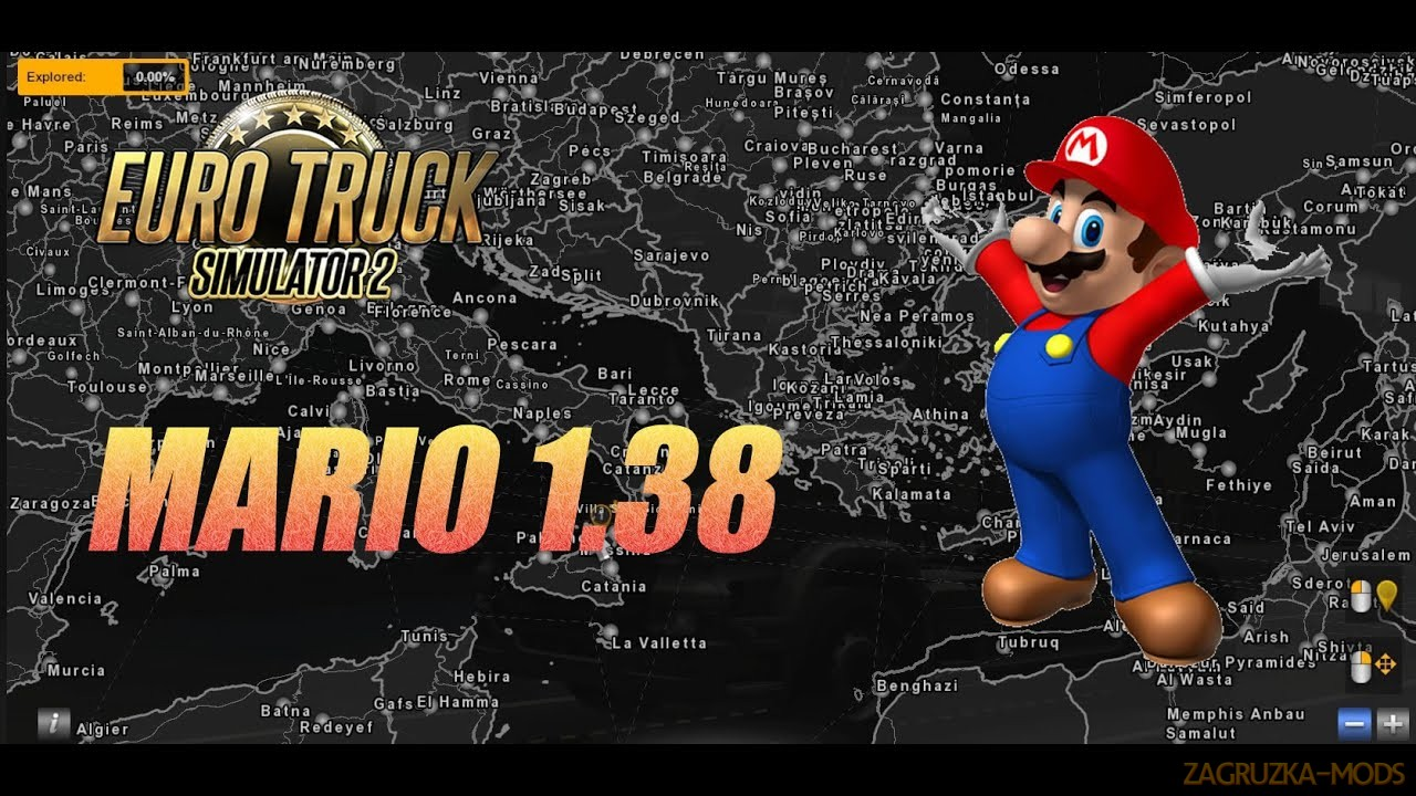 Mario Map v12.8 (1.39.x) for ETS2