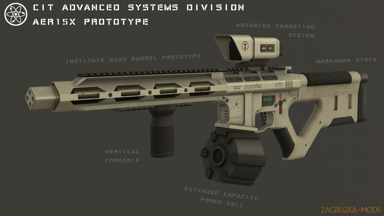 AER15 Modern Laser Assault Rifle v1.0b for Fallout 4