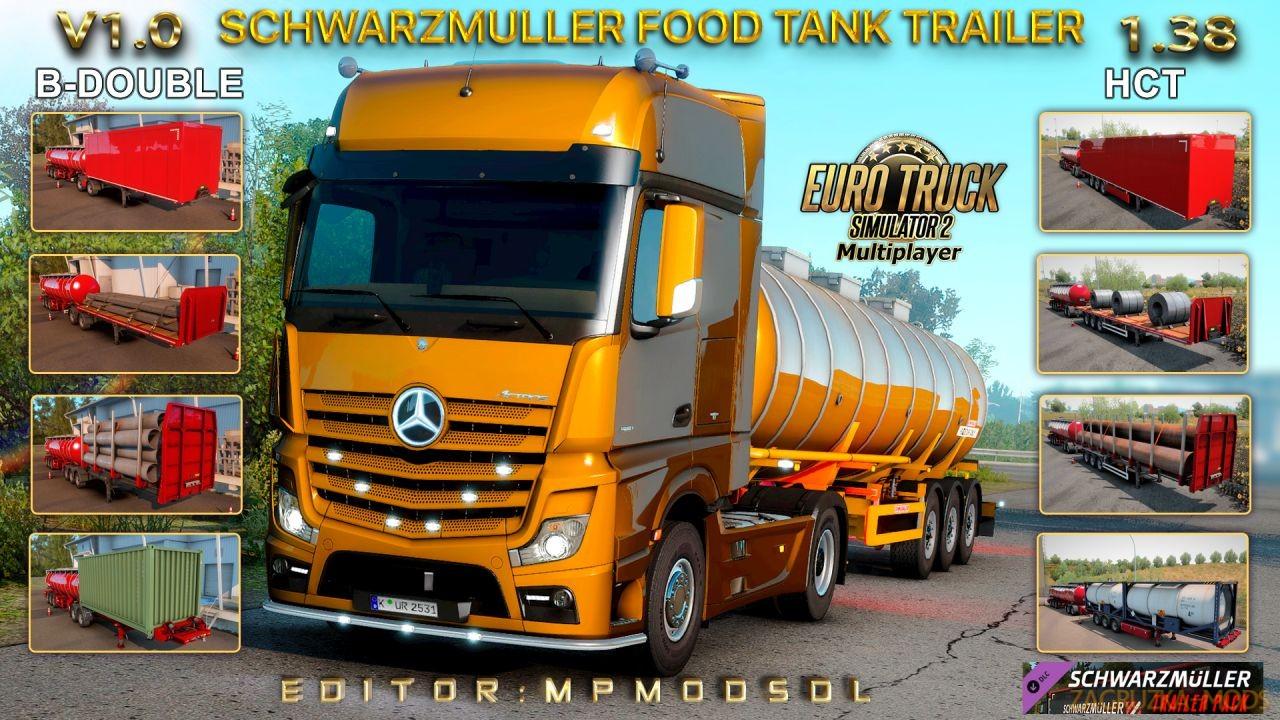 Schwarzmuller Food Tank B-Double and HCT Trailer v1.0 (1.38) for ETS2