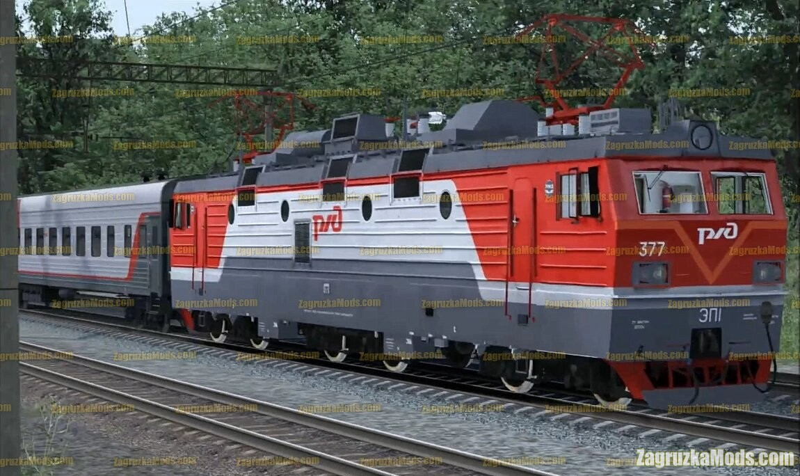 Electric locomotive EP1-377 v1.0 for TS 2020