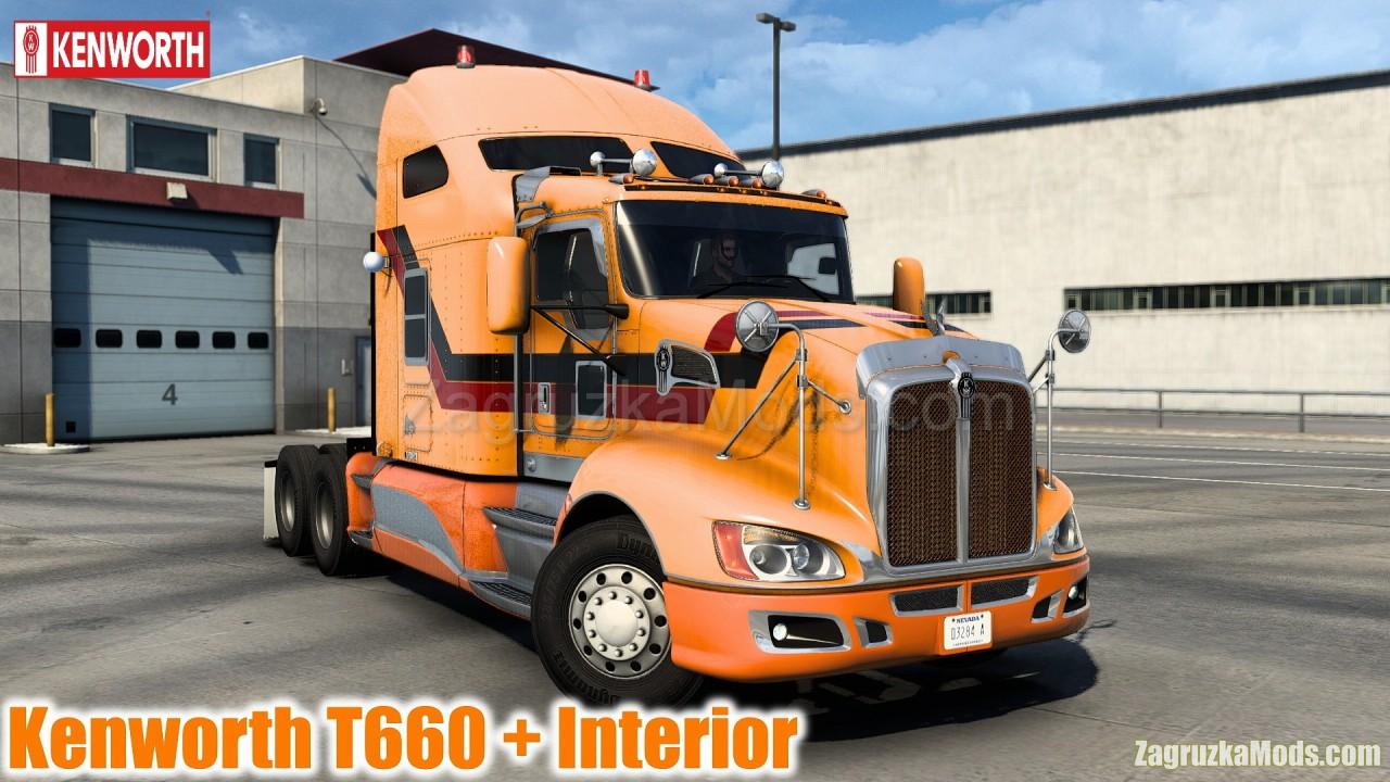Kenworth T660 + Interior v3.2 (1.40.x) for ATS